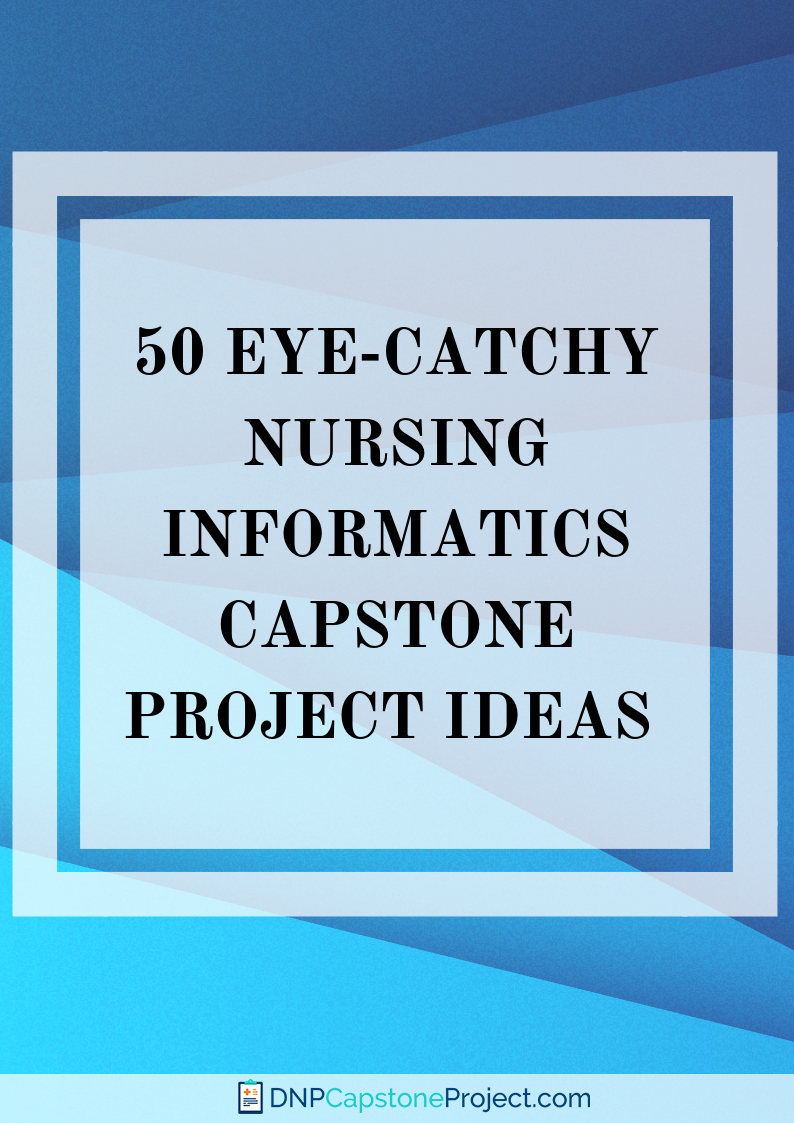 great health informatics capstone project examples
